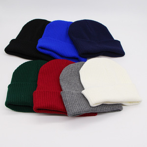 Cheap Promotional Plain Beanie Warm Winter Knitted Hats
