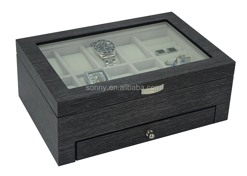Luxury Custom Wooden Jewelry Box with a Drawer
