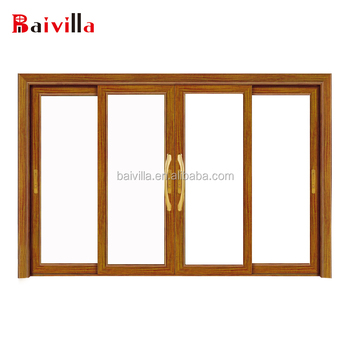 3 Track Sliding Closet Door Interior French Wooden Glass Sliding