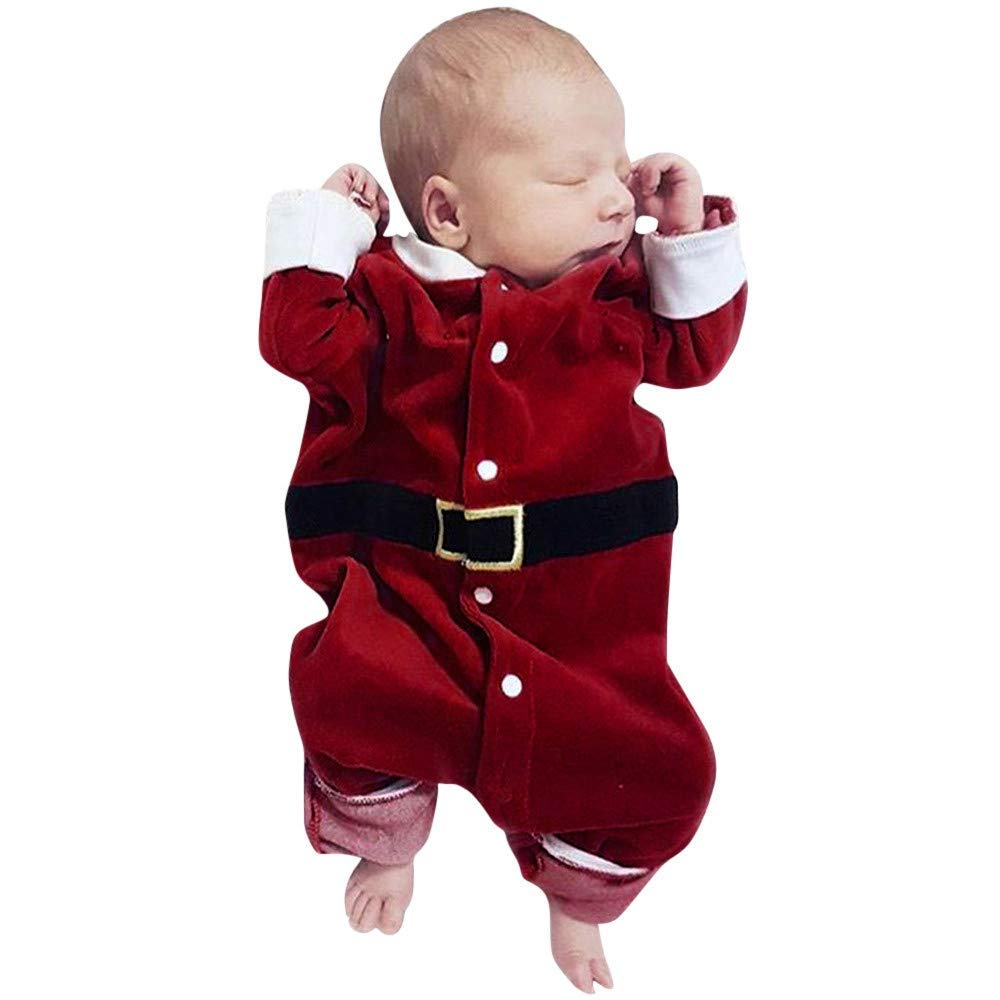 Moonper Toddler Infant Baby Boys Girls Christmas Soft Warm Long Sleeves Romper Jumpsuit Clothes