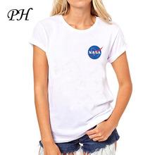 PH de LA NASA t shirts mujer 2016 summer tops mujeres espacial alien camiseta de manga Corta Camisetas casual camisetas para dama