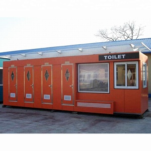 low cost lightweight prefab container house public toilet