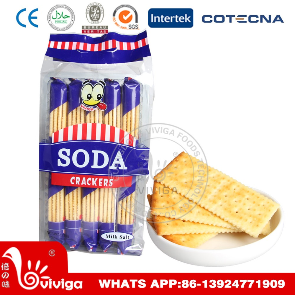 250g Milk soda cracker for africa