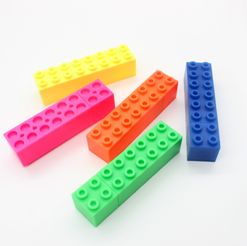 novelty stackable highlighter, toy brick highlighter marker for child