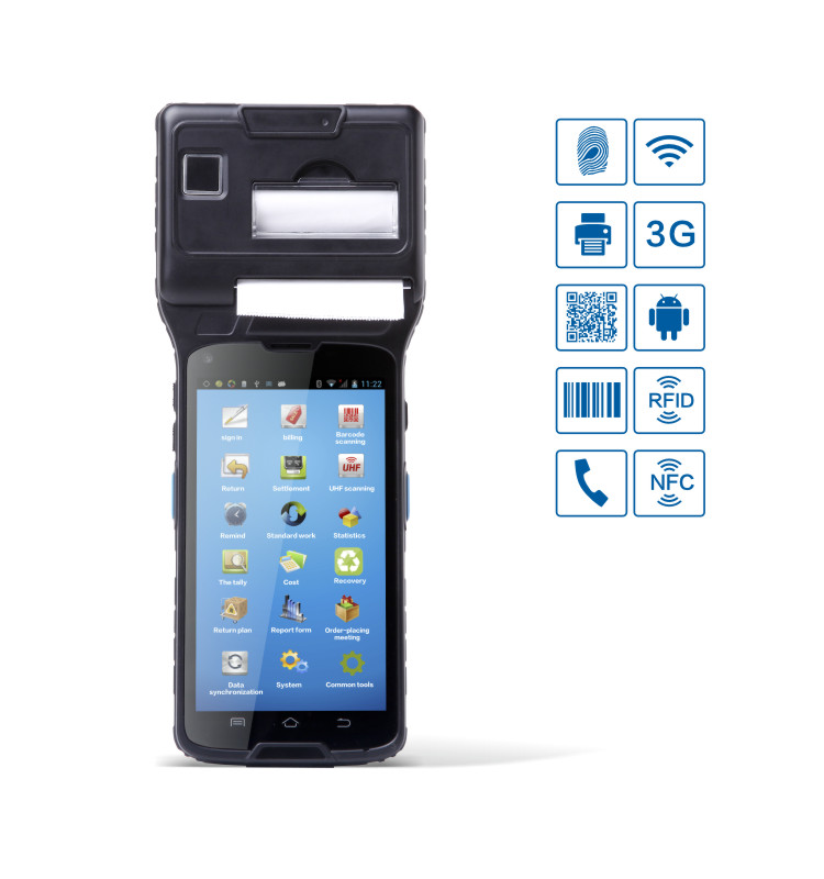 Android handheld thermal POS printer CM550S, FBI fingerprint is optional