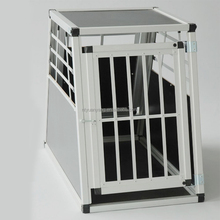 Scratch-Resistant Metallic folding dog aluminum crate