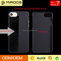 China supplier miroos New coming rubberized hard plastic blank phone case for iphone 7 custom flip mobile cover