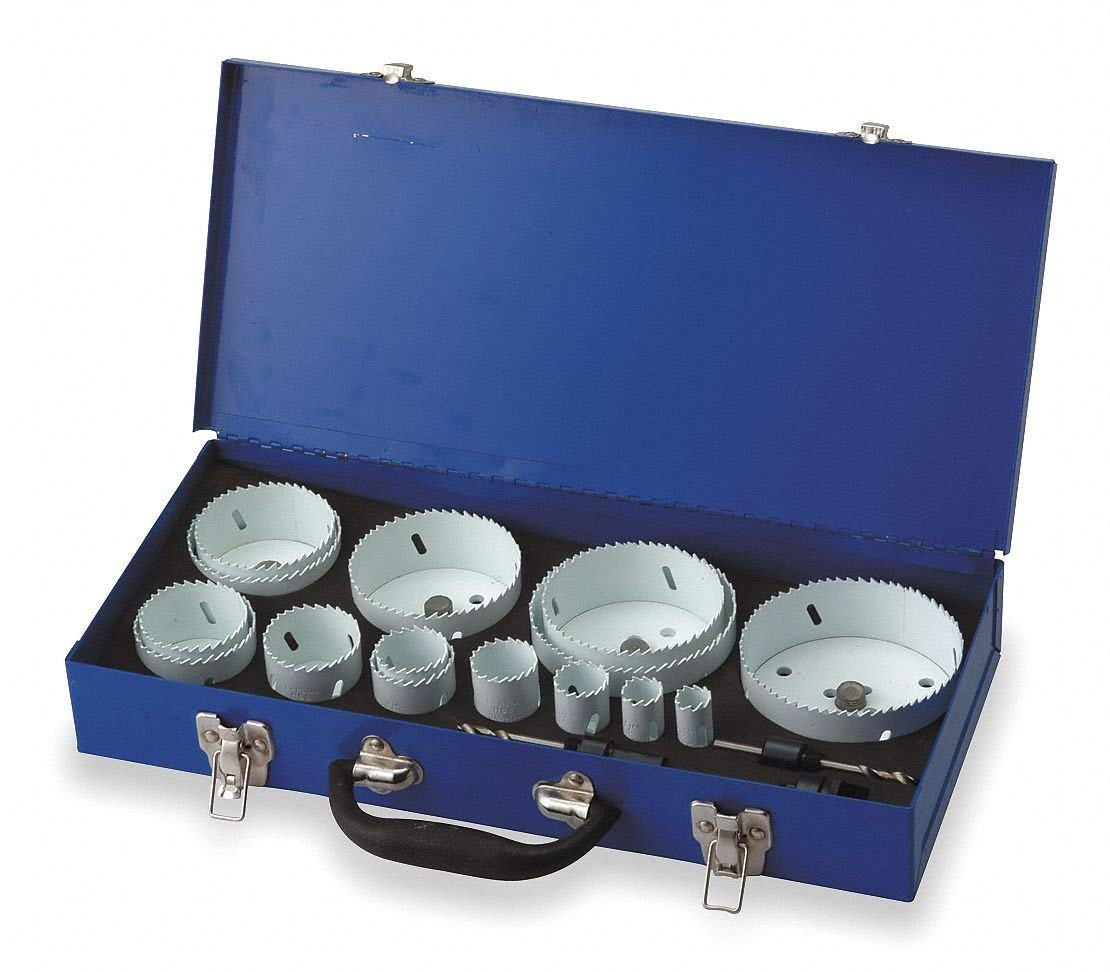 "15-Piece Hole Saw Kit for Wood, Range of Saw Sizes: 3/4"" to 2-1/2"""