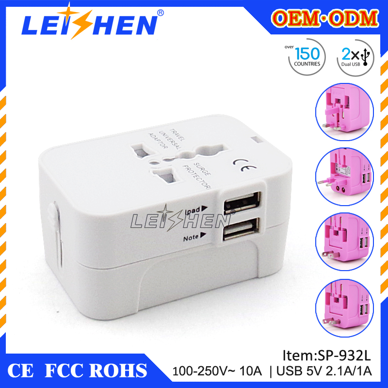 Unique business idea gift 5V usb travel adapter business gift set executive