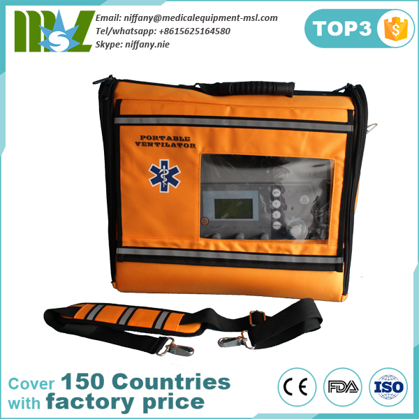 Portable Medical Ventilator Price/emergency transport ventilator with Oxygen Cylinder