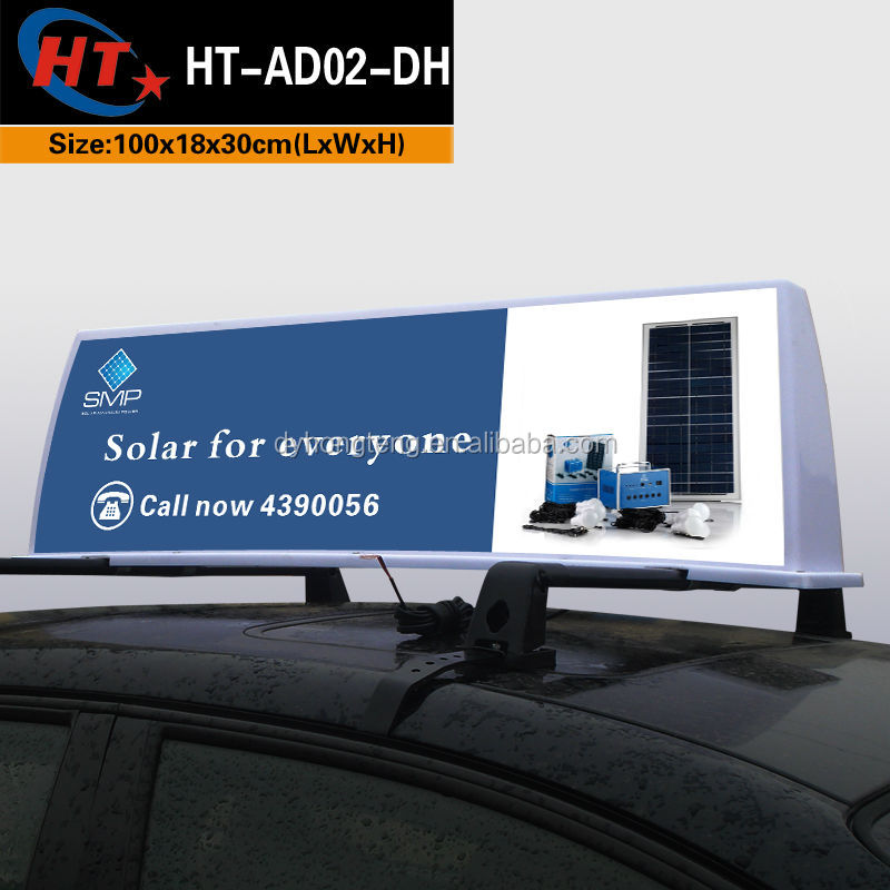 Street advertising light box car taxi led poster