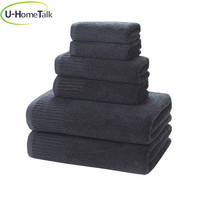 U-HomeTalk UT-TJ004 China Bath Towel Factory Promotional 100% Cotton Bath 70x140 550GSM Discount Directly Quality Terry Towel