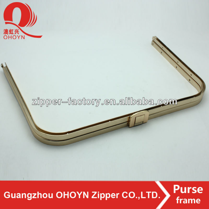 No.9177 Fashioned Nickel-free Lead-free Light gold clutch frame bag parts