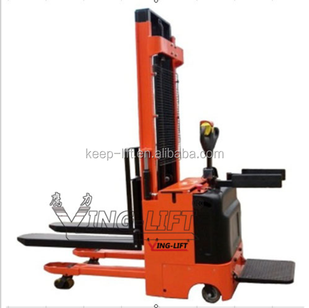 Electric Stacker with Chassis Lifting