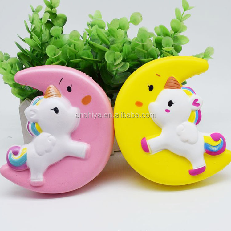 Online shop China!Wholesale Slow rising Japan kawaii squishy factory, new colorful moon horse unicorn cartoon squishy toys