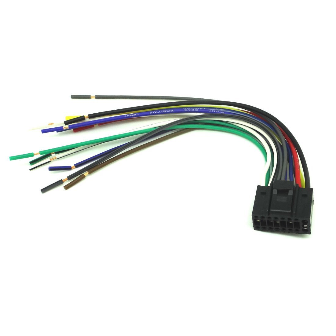 Buy Universal 16pin Radio Wire Harness Car Audio Stereo Power Plug Sony Mex N5100bt Wiring Conpus 16 Pin For Kenwood Kdc Mp242 Player