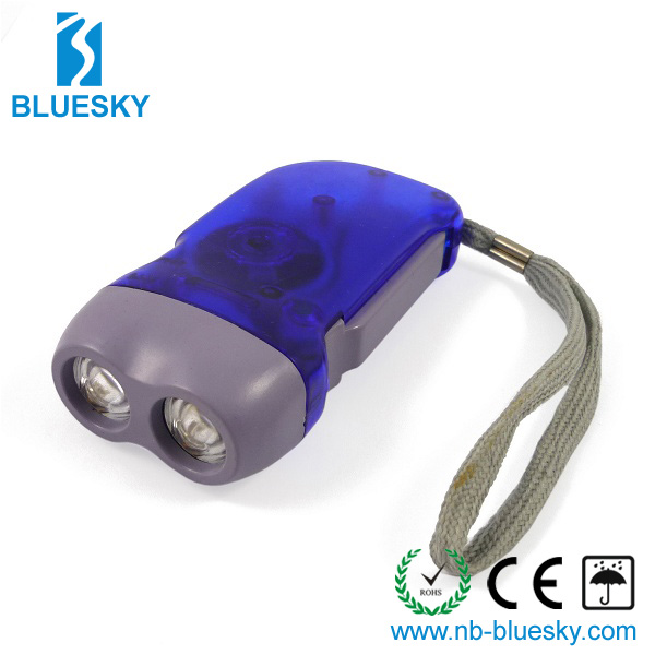 Hand press Rechargeable led Flashlight
