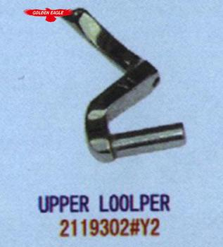 2119302#Y2 upper looper Suitable for AZ8000 Curved needle bending of  industrial sewing machine spares parts, View sewing machine parts, GOLDEN