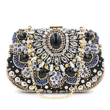 elegant ladies beaded Evening bag wholesale party clutch bag