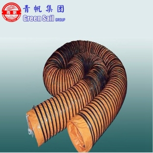 0.5m diameter or Customized Spiral Type Flexible Tarpaulin Air Duct Tube for Ventilation