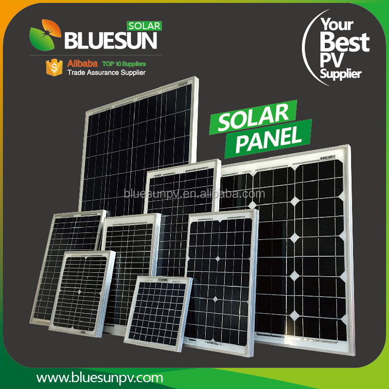Bluesun poly/mono solar street light system 5w 10w 20w 30w 9v mini solar panel