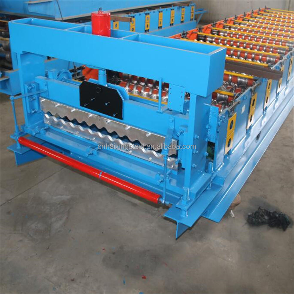 aluminium galvanized steel color metal roofing tile sheet rolling former press machine production line