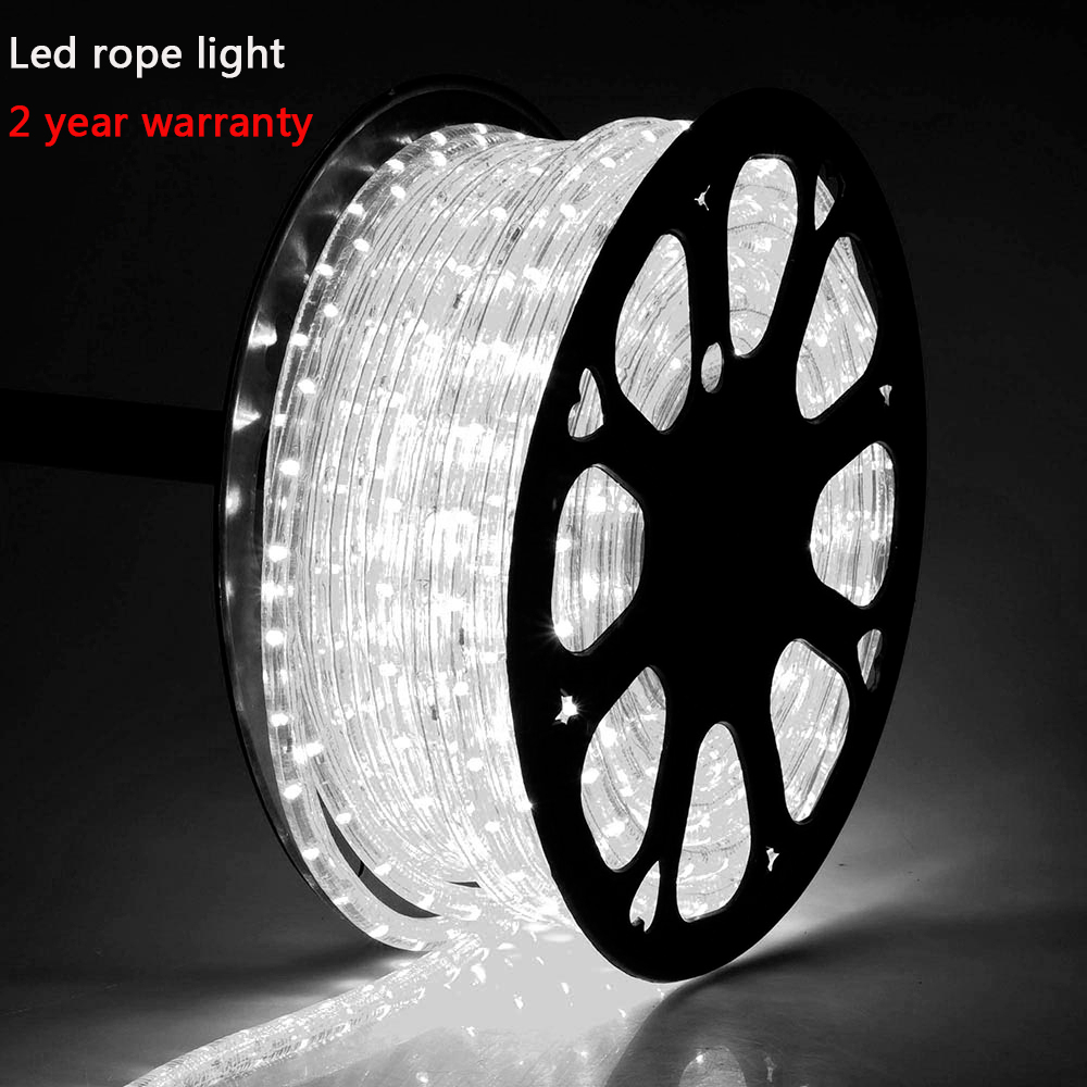 Export europe Copper wire 2 wire 36leds dimabl round 110V 220V Flexible led rope, 12V/24V led rope lighting