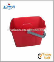 new design window cleaning plastic buckets with mouth