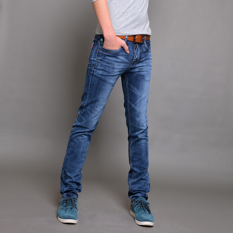 new 2015 fashion ripped baggy jeans men's skinny jeans ...