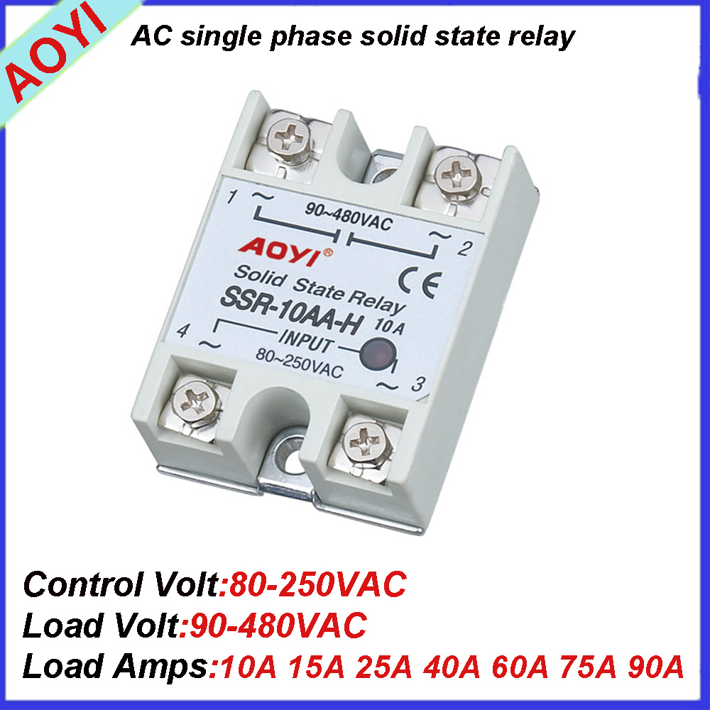 cheap cost 90A AC single phase general low power relay switch SSR-90AA-H