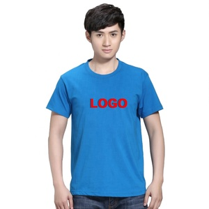Custom Blue and red logo men simple design t shirt