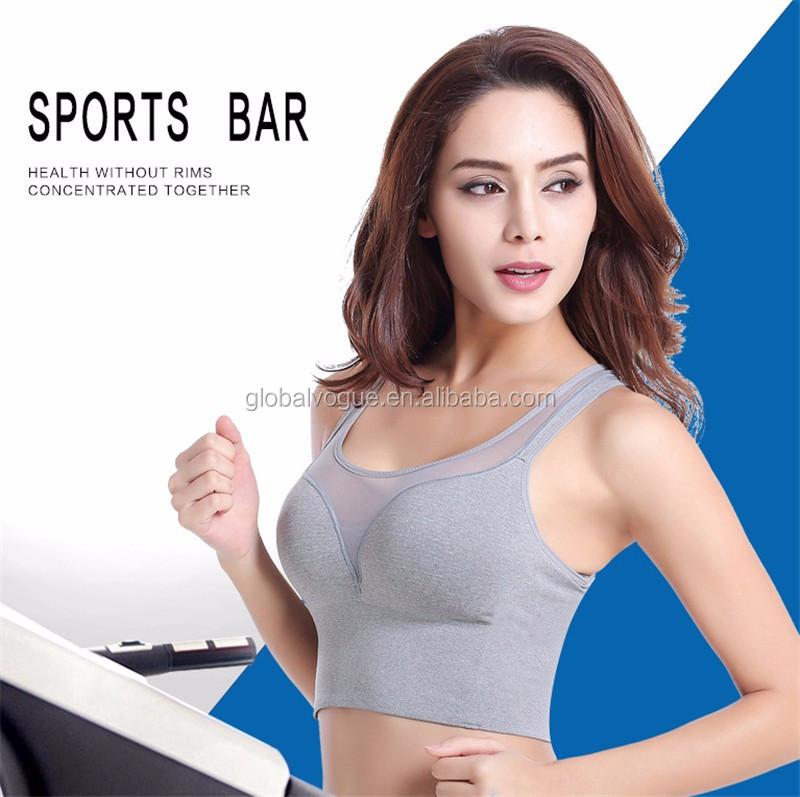 Professional Sports Mesh Fitness Women Yoga Top Sexy Push-up Sports Bra  Yoga Fitness Vest Bra Workout Running Top Bra f7a82ed75f4