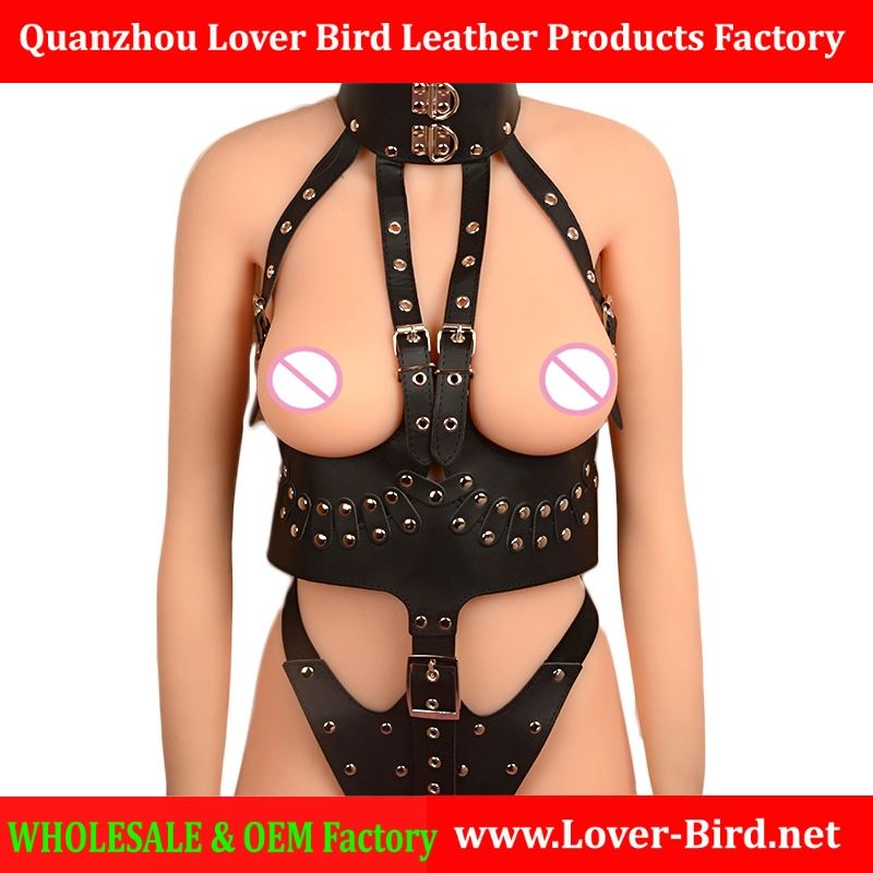 PU Leather Sex Bondage Restraint Queen Fetish Wear Open Crotch Sexy Lingerie for Women Female Body Harness Bondage Sex Products