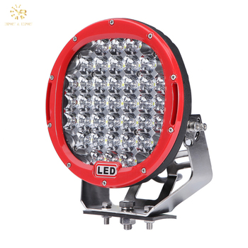 Hot Sale Red Car Headlight 185W Led Off Road Light