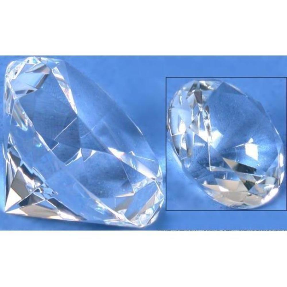 Crystal Diamond Showcase Jewelry Display Fixture 60mm