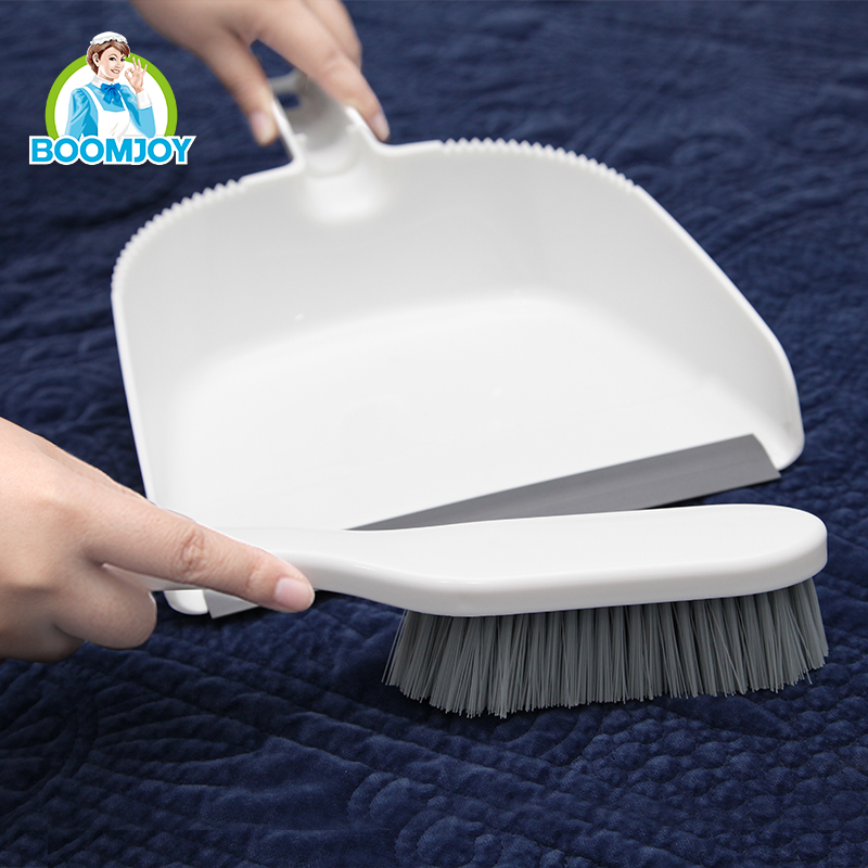 Mini smart plastic dustpan and PET cup brush set/ Multifunctional economical and eco-friendly brush set