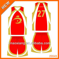 boys personality red basketball uniform