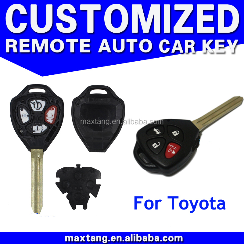 4 Button Car Remote Key Case Shell Fob Uncut Blade For Toyota Corolla Avalon Camry Matrix RAV4 Venza Yaris