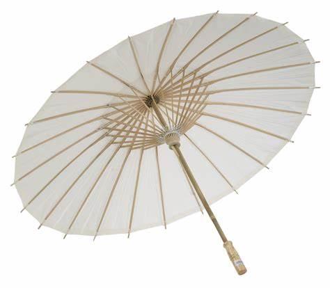 PoeticExst Chinese Straight Olie Papier Paraplu Custom Outdoor Bruiloft Zon Wit Papier Paraplu