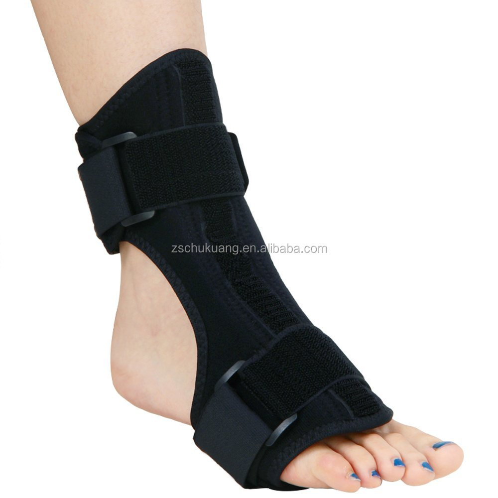 Plantar Fasciitis Foot Drop Brace Night Splint Dorsal Foot Brace For Heel Pain Relief, Black or other custom color