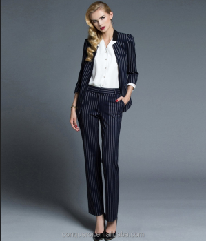 made to measure women s black white stripe blazer jacket suits buy striped suit women s striped suit black suit with white stripes women suit product on alibaba com black white stripe blazer jacket suits