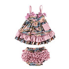 Baby Clothes Baby Clothes Supplier New Design Baby Clothes Set Girl Summer Clothes Girls Dress Swing Top Set