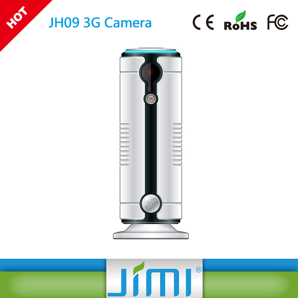 JIMI JH09 Wireless+3G P2P Surveillance Mobile Camera with Magnetic Base for 360 Degree Placement
