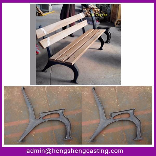Metal Material Outdoor Furniture Benches Cast Iron Garden Leg