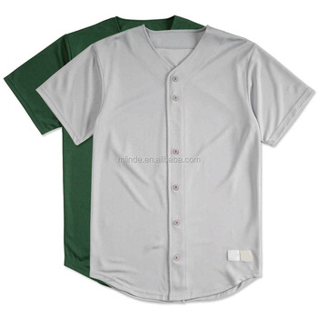 978688ab Sport Tshirt Mesh Full Button Down Mens Active Varsity Short Sleeve Plain  Blank Baseball Jersey