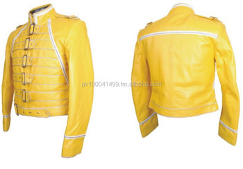 hot sales 350d6 00bed Freddie Mercury Regina Concerto Giacca In Pelle Gialla - Buy Freddie  Mercury Giacca Gialla Product on Alibaba.com