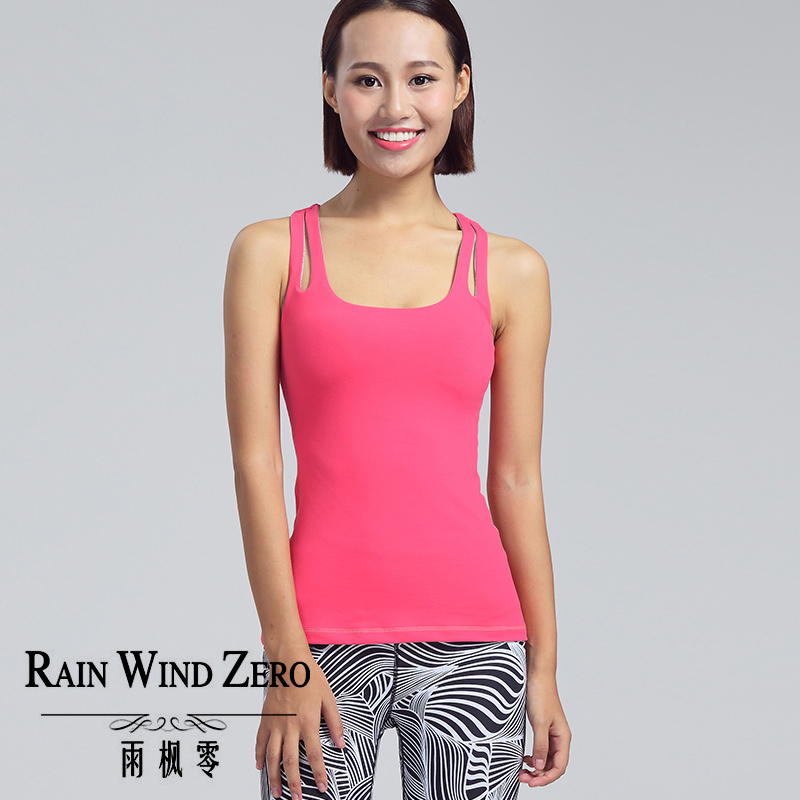 Customize yoga sports running wear pink tank top for women