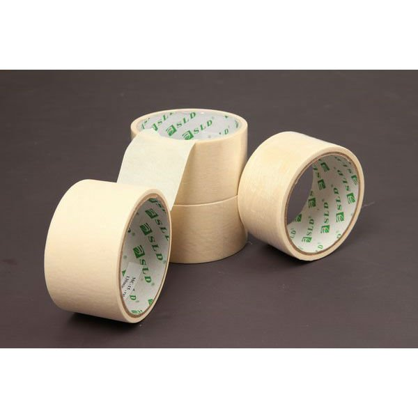 Alibaba Wholesale Free Sample Ruber Based 110mic~165mic Cheap Crepe Paper Brown Masking Tape For General Purpose