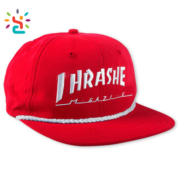 886359de084 Personalized 3D embroidery snapback cap 6 panel flat plain nylon rope baseball  hat blank sports caps