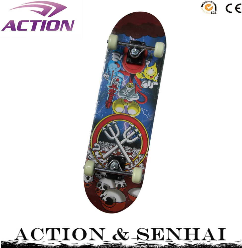 ACTION 28*8 inch cheap Chinese maple wood skateboard